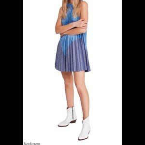 Free People Pleated Love Mini Dress XS